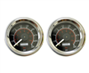 [2] Pack Viair 220 Psi Dual Needle Black Face Gauge with Back Light 90080, sold as pair!