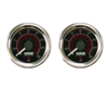 [2] Pack Viair 160 Psi Dual Needle Black Face Gauge with Back Light 90082, sold as pair!