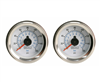 [2] Pack Viair 160 Psi Dual Needle White Face Gauge with Back Light 90083, sold as pair!