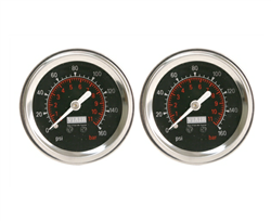 "[2] Pack Viair 2"" Diameter 160 PSI Max Black Face Gauge with Back Light 90088, sold each!"