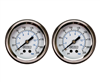 "[2] Pack Viair 2"" Diameter 220 PSI Single Needle White Face Air Gauge 90087 (with Back Light), sold as pair!"