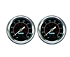 "[2] Pack Viair 2"" Diameter 220 PSI Max Black Face Gauge with Back Light 90090, sold as pair!!"