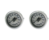 [2] Pack Air Lift Single Needle 200 Psi White Face Gauge with Barbed Fitting on Back side, sold as pair!