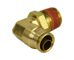 "Alkon 1/4"" Hose 3/8"" NPT 90 Deg Push-to-Connect Elbow- AQ69-DOTS-4x6"