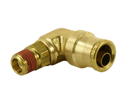 "Alkon 1/2"" Hose 1/4"" NPT 90 Deg Push-to-Connect Elbow"