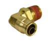 "Alkon 1/2"" Hose X 1/2"" NPT 90 Degree Push - to- Connect Elbow"