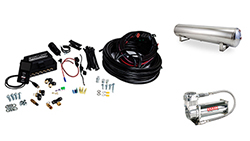 "Air Lift Performance 3P (1/4"" Air Line, 4 Gallon 5-Port Lightweight Polished Aluminum Tank, VIAIR 444C Compressor)"