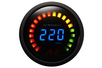 Air Zenith 220 Psi Black Face LED Digital Gauge