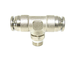 Nickel Plated PTC X NPT Swivel Branch Tee