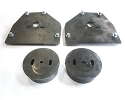 1963-87 Chevy C10,C15 Front Air Bag Brackets For Single Port Air Bags-Pair