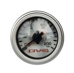 AVS Silver Face Dual Needle 200 PSI Max. Air Gauge W Different Color LED, Sold Each
