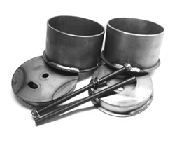 1964-72 GM A Body Rear Bag Cups/Brackets,sold as pair!