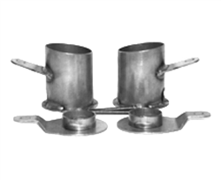 1958-64 Chevy Impala Rear Airbag Cups/Brackets, sold as pair!