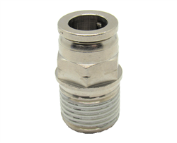 "1/2"" PTC X 1/2"" NPT Nickel Plated Brass Male Connector"