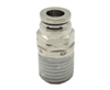 "1/4"" PTC X 1/4"" NPT Nickel Plated Brass Male Connector"