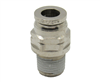 "1/4"" PTC X 1/8"" NPT Nickel Plated Brass Male Connector"