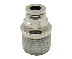 "1/4"" PTC X 3/8"" NPT Nickel Plated Brass Male Connector"