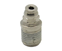 "1/8"" PTC X 1/4"" NPT Nickel Plated Brass Male Connector"