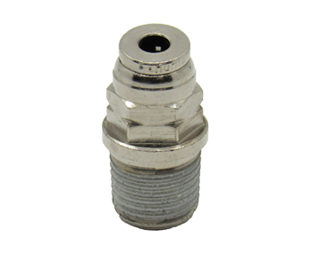 "1/8"" PTC X 1/8"" NPT Nickel Plated Brass Male Connector"