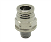 "3/8"" PTC X 1/8"" NPT Nickel Plated Brass Male Connector"