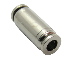 "Nickel Plated Brass 1/4"" PTC  Straight Union  Fitting"
