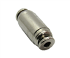 "Nickel Plated Brass 1/8"" PTC  Straight Union  Fitting"