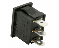Momentray On/OFF/ON 3 Prong Rocker Switch 10 AMP Max, Sold Each