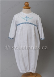 Boys Christening cotton party gown – B-Sleeper-001