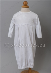 Christening WhiteCotton  Party Gown – B-Sleeper-003