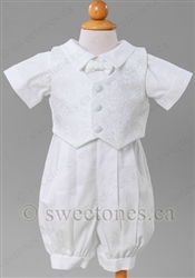 Boy Christening romper