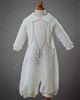 boys Christening knitted romper