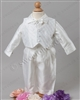 Boy silk Christening outfit