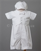Boy Baptism Romper Christening Outfit