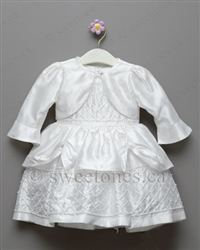 Christening dress with bolero