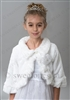First communion girl fur bolero