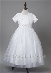 White flower girl dress first communion dress