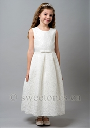 Girls lace dress with rhinestone belt– Style FC-Windy