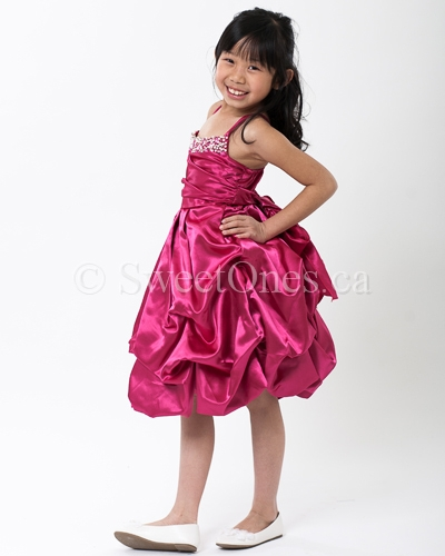 Hot pink bubble girl party dresses | Flower Girl Dresses and Shoes ...