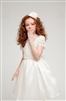 lace and taffeta girl party dress