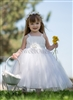 satin and tulle white princess dress