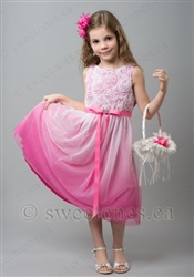 Pink ombre flower girl dress Toronto