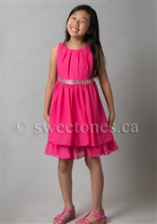 Fuchsia party dress flower girl dress