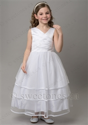 white flower girl dress