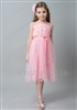 Pink party dress flower girl dress