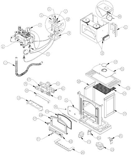 Osburn Romance Gas Stove Parts