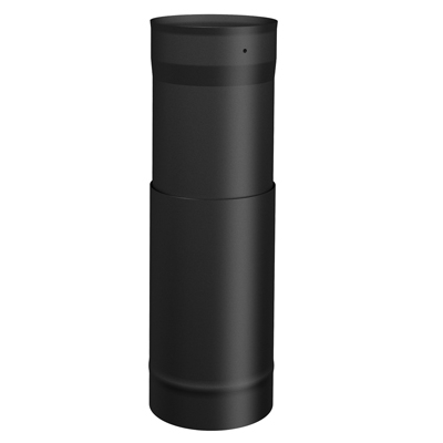 Sp00053 6 Quot Single Wall Telescopic Black Stove Pipe