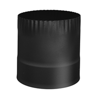 "SP00350 6"" Stove connector single wall black"