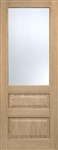 Contemporary 3P Glass Oak Interior Door
