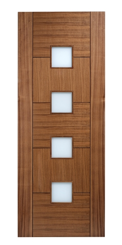 Quebec Glazed Walnut Interior Door