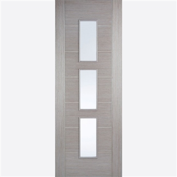 Hampshire  Glazed Light Grey Interior Door